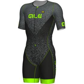 Alé Cycling Triathlon Kilawea SS Skinsuit Men black-grey-fluo green